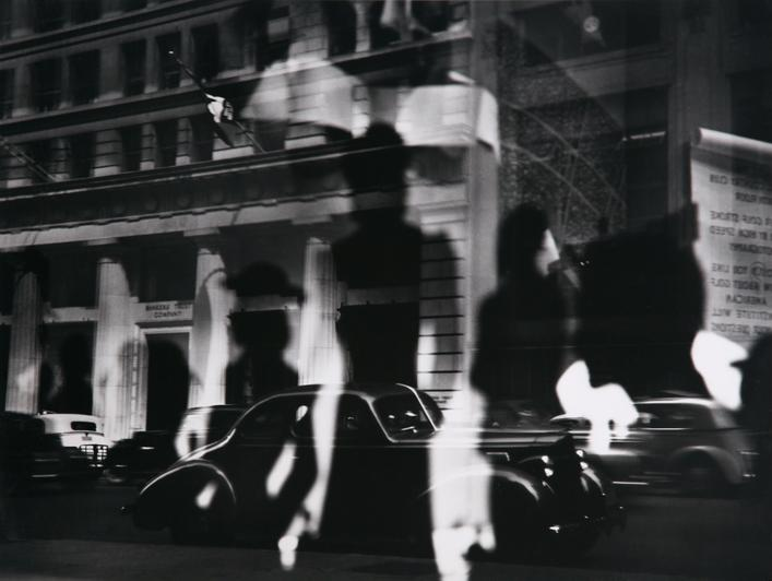 ​Lisette Model Reflections, Rockefeller Center, New York, c.1945 Gelatin silver print, printed c.1970s. 15 3/4 x 19 1/2 inches