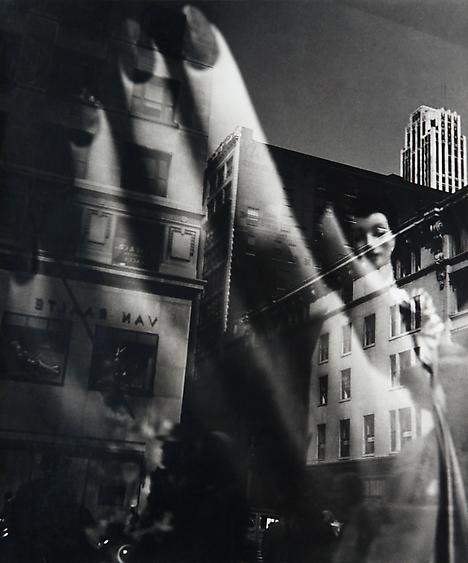 Reflections, New York, c. 1939-45 Gelatin silver print, printed c. 1950. 13 x 10 5/8 inches