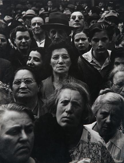 ​Lisette Model War Rally, New York, 1942 Gelatin silver print, printed c. 1942.  13 3/8 x 10 5/8 inches