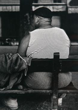 ​Lisette Model Circus Man, Nice, c. 1933-38 Gelatin silver print,  printed c.1970s. 14 1/8 x 9 7/8 inches