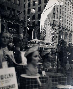 Reflections, Fifth Avenue, New York, c. 1945 Gelatin silver print, printed c. 1945. 13 x 10 5/8 inches
