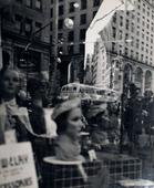 ​Lisette Model Fifth Avenue, New York (Reflections), c. 1945 Gelatin silver print, printed c. 1945. 13 x 10 5/8 inches