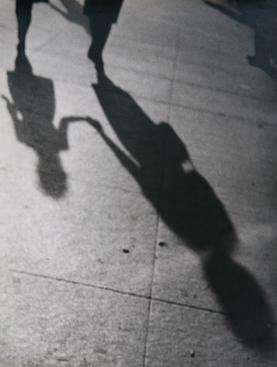 Lisette Model Shadows, Woman and Child,1940-41 Gelatin silver print, printed c. 1960s 13 1/2 x 10 3/4 in.