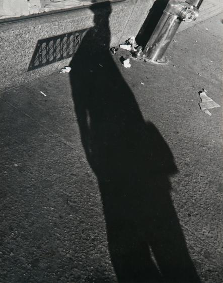 ​Lisette Model Shadows, 1940-41 Gelatin silver print, printed c. 1960s. 13 1/4 x 9 3/4 inches