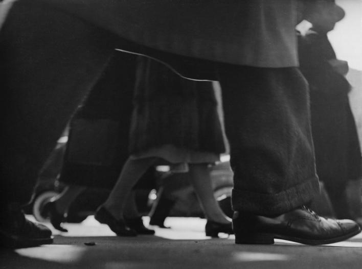 Lisette Model Running Legs, Forty-Second Street, New York, 1940-41 Gelatin silver print, printed c. 1950. 10 1/2 x 13 5/8 inches