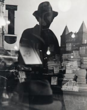 ​Lisette Model First Reflection, New York, 1939-40 Gelatin silver print, printed c. 1940s. 13 1/2 x 10 3/4nches
