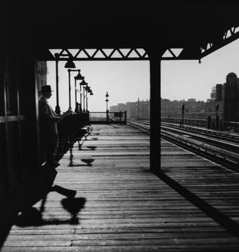 Bronx Subway Station, New York, 1950 Gelatin silver print, printed later 13 x 13 inches