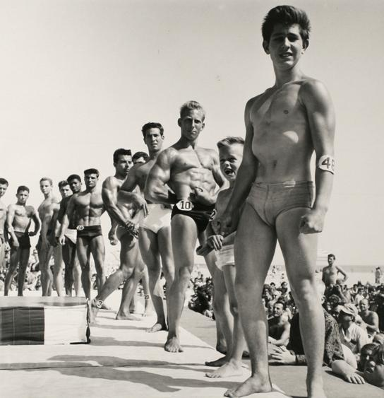 Contestants, Muscle Beach, Santa Monica, CA, 1954 Gelatin silver print, printed later 20 x 16 in. (40.6 x 50.8 cm) Signed on verso $4,500 Inquire