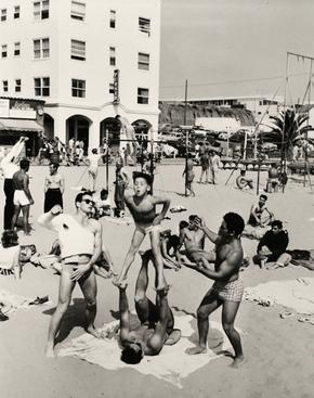 Boy Performing, Muscle Beach, Santa Monica, CA, 1954 Gelatin silver print, printed later 14 x 11 in. (35.6 x 28 cm) Signed on verso $3,000 Inquire