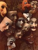 Masks, Boston, 1966 Dye transfer print 8 x 6 3/4 in.