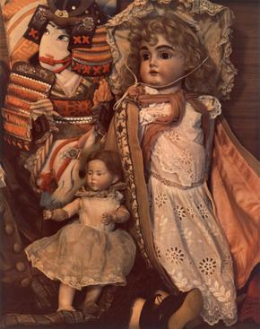 Dolls, Boston, 1965     Dye transfer print. 7 3/4 x 6 1/2 inches
