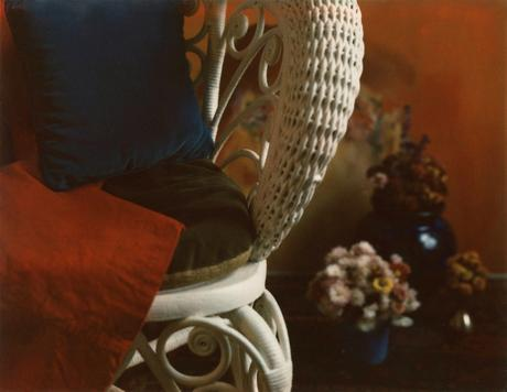 Floral with Wicker Chair, c. 1962-1963     Polaroid. 3 1/4 x 4 1/4 inches