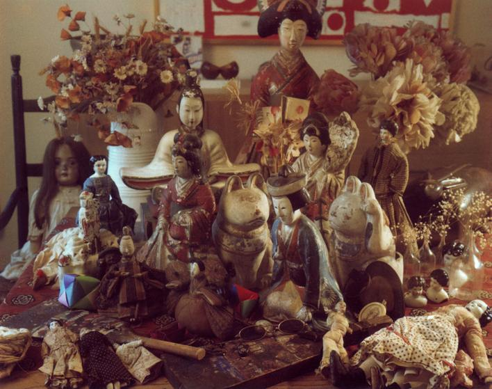 Japanese Dolls, c. 1982-1983     Polaroid. 4 1/4 x 5 1/4 inches