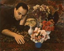 Nathan with Floral, c. 1962-1963     Polaroid. 3 1/4 x 4 1/4 inches