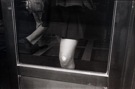 Knee Against Glass, May, 1976 Gelatin silver print, printed 1976. 16 x 20 inches