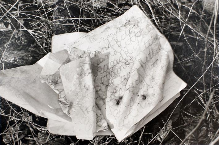 Child's Notebook, 1977 Gelatin silver print, printed 1977. 16 x 20 inches