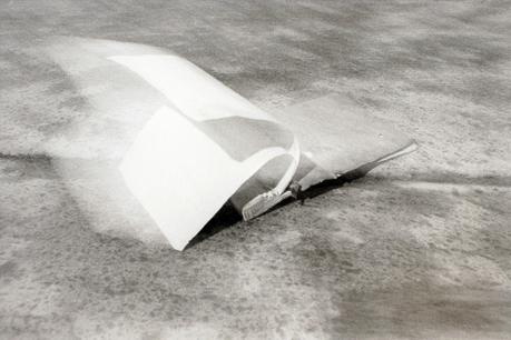 Memo Pad in Wind, 1976 Gelatin silver print, printed 1976. 16 x 20 inches