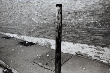 Pole at Center, Pittston, PA 1974 Gelatin silver print, printed 1974. 16 x 20 inches