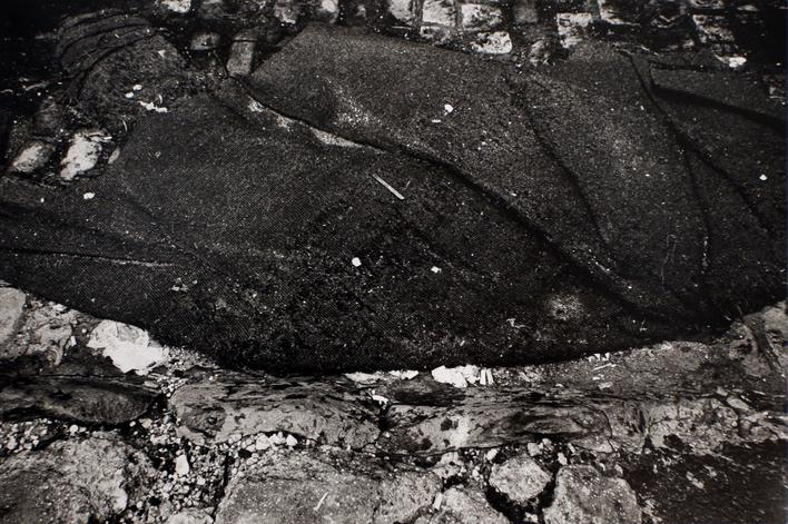 Coat on Ground, 1973 Gelatin silver print, printed 1973. 16 x 20 inches