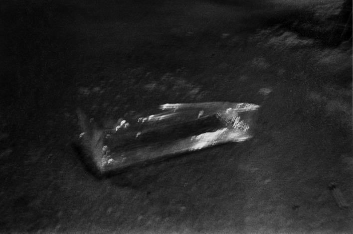 Time Exposure - Cellophane Wrapper, Wilkes-Barre, PA, May, 1976 Gelatin silver print, printed 1976. 16 x 20 inches