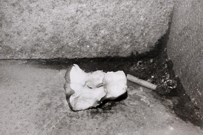 Apple Core in Corner, 1974 Gelatin silver print, printed 1974. 16 x 20 inches