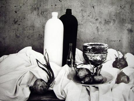 Natura morta con cipolle, 1956 (Still life with a cup) Gelatin silver print, printed later 11 3/4 x 15 inches