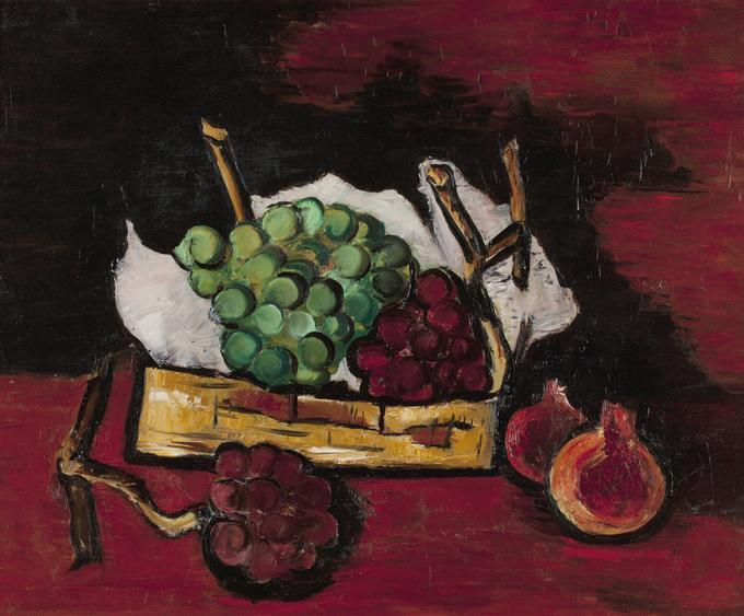 Marsden Hartley  Green and Purple Grapes, 1928    Oil on canvas. 20 1/4 x 24 1/8 inches