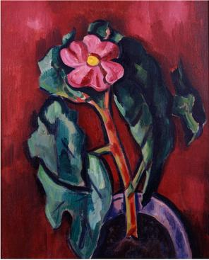 Marsden Hartley  Flowering Plant, 1928    Oil on canvas. 24 x 19 1/2 inches
