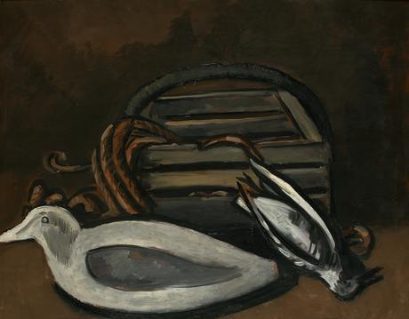 Marsden Hartley Maine Seacoast, Still Life, 1940-41    Oil on masonite. 22 1/8 x 30 1/4 inches