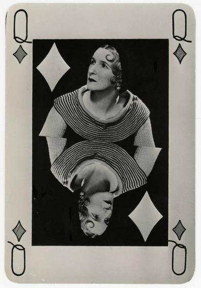 Man Ray (1890-1976) Valentine Hugo as Queen of Diamonds, 1935     Gelatin silver print, printed 1935 6 5/8 x 4 1/2 in. (16.8 x 11.4 cm)