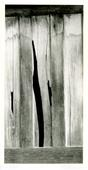 Board Fence Abstraction, 1957 Gelatin silver print mounted to board, printed c. 1957 6 3/8 x 3 1/8 inches