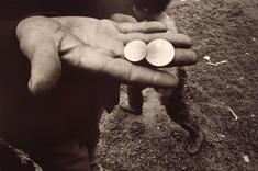 Untitled, (Coins in Hand), 1968 Gelatin Silver Print (on 20 x 30 inch mount), printed c. 1968 15 1/2 x 23 inches