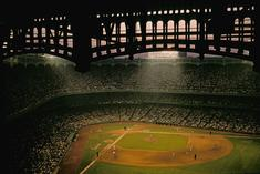 Night baseball game, Yankee Stadium, Bronx, New York, 1983 Archival inkjet print 13 x 19 inches