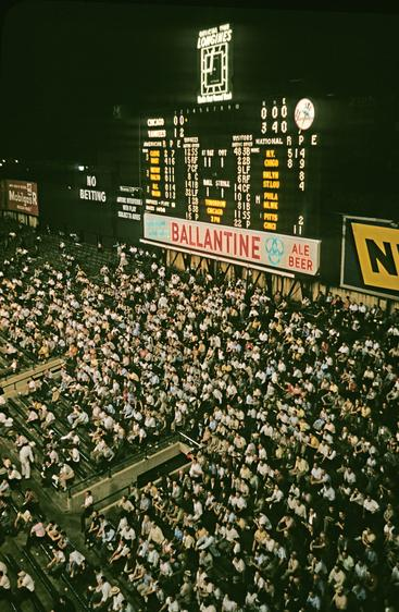 Night baseball game, Yankee Stadium, Bronx, New York, 1983 Archival inkjet print 22 x 17 inches