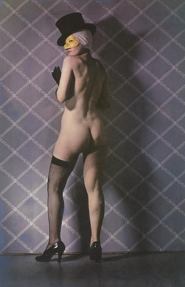 Paul Outerbridge, Nude with Mask and Hat