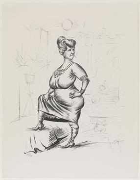 Otto Dix Frieda, 1923 Lithograph. 20 1/4 x 17 1/8 inches