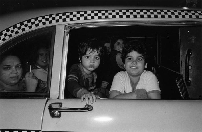 Untitled (Out My Taxi, #177) Gelatin silver print 16 x 20 in. (40.64 x 50.8 cm)