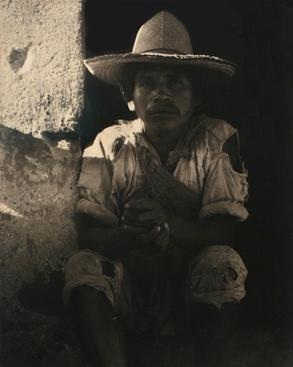 Man, Ixmaquiepan, Mexico, 1933 Waxed platinum print mounted to board, printed c. 1933 5 7/8 x 4 5/8 inches