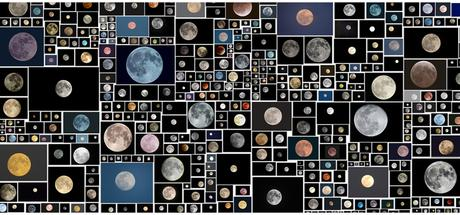 Everyone's Photos Any License (654 of 1,146,034 Full Moons on Flickr, November 2015), 2015, digital c-prints, variable sizes