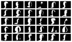 Portraits, 1996-2013    Set of 30 UV inkjet print on mirrored plexiglass. 10 1/16 x 21 1/4 in. each