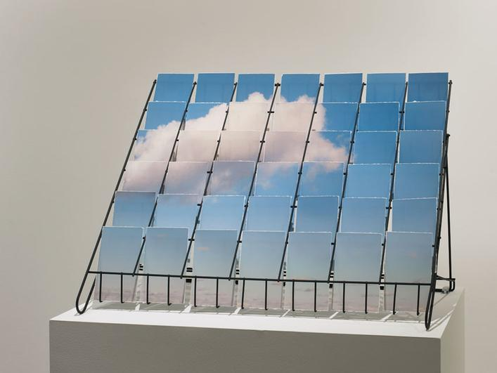 Postcloud, 2012 Pigment print in a wire postcard rack. 8 x 24 x 12 inches