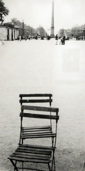 Chairs, Paris, 1949 Gelatin silver print, printed c. 1949 12 7/8 x 6 1/2 inches