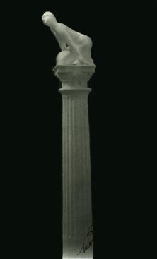 Sphinge sure Colonne, [Piatre], 1889 Carbon print, printed c. 1903-1913 13 1/2 x 8 1/8 inches
