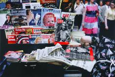 Ruth Orkin Magazine Stand, NYC, c. 1950 Archival inkjet print, printed 2010.  11 x 14 inches