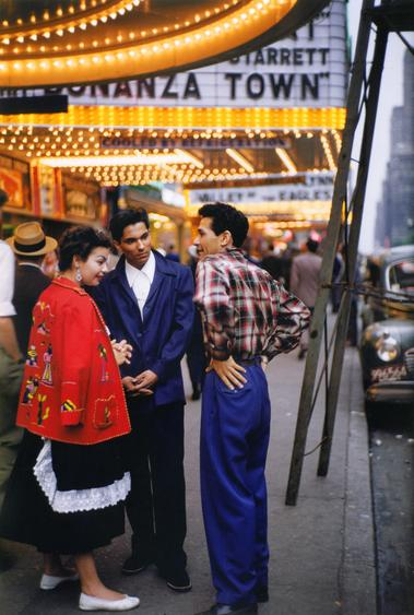Ruth Orkin Three People Under Marquee, NYC, c. 1950 Archival inkjet print, printed 2010.  11 x 14 inches