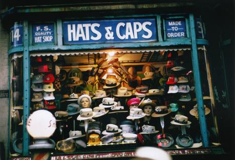 Ruth Orkin Hats and Caps, NYC, c. 1950 Archival inkjet print, printed 2010.  11 x 14 inches