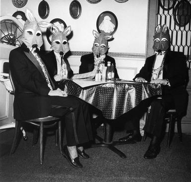 Foxes' Masquerade, New Orleans, 1993-94 Gelatin silver print, printed 1994 20 x 16 inches