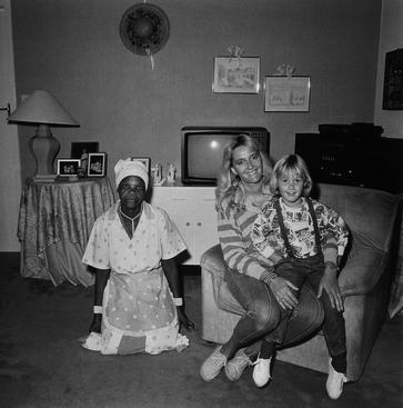 Mother, Daughter, and Maid, Johannesburg, South Africa, 1988 Gelatin silver print, printed 1993 20 x 16 inches