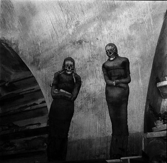 Mummy Couple, Catacombs, Palerno, Italy, 1976 Gelatin silver print, printed 1976 20 x 16 inches