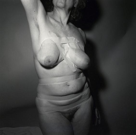 Self-portrait Taped, 1987 Gelatin silver print, printed 2008 10 x 8 inches
